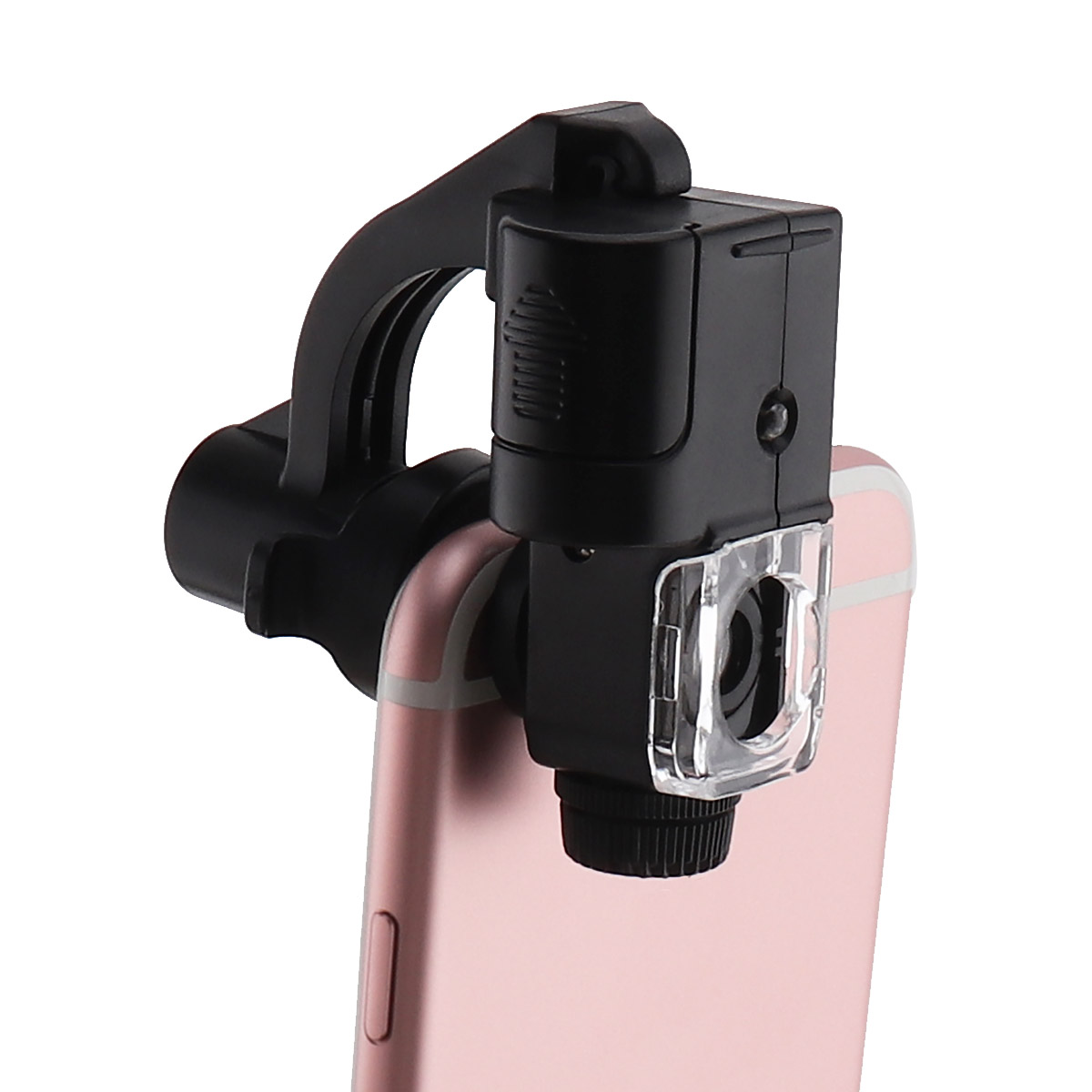 Multifunctional 90X Cell Phone Clamping Microscope Optical Tool with LED Light UV Counterfeit Detector for Antique Appreciate in Magnifiers from Tools