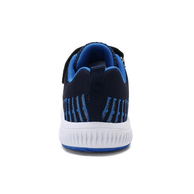 QIUTEXIONG Mesh Children Sneakers For Boys Breathable Anti-Slippery Kids Casual Shoes Hook&Loop School Boys Sneakers Footwear