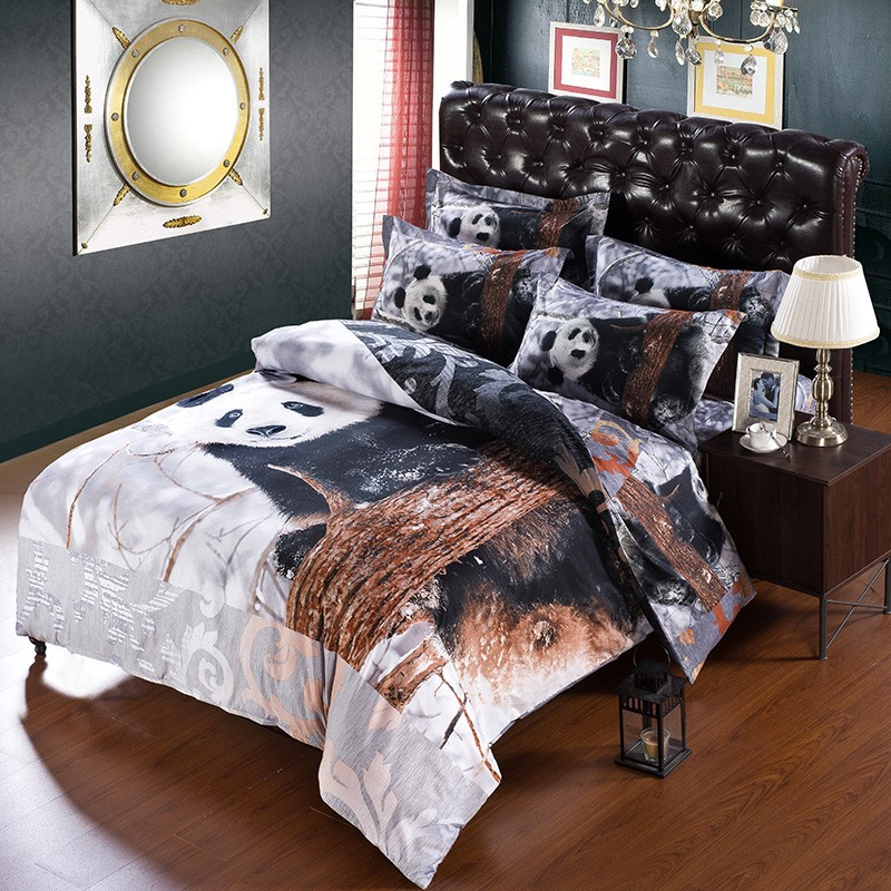 Very Cute Panda 3d Printed 7 Pcs Bedding Sets Duvet Cover