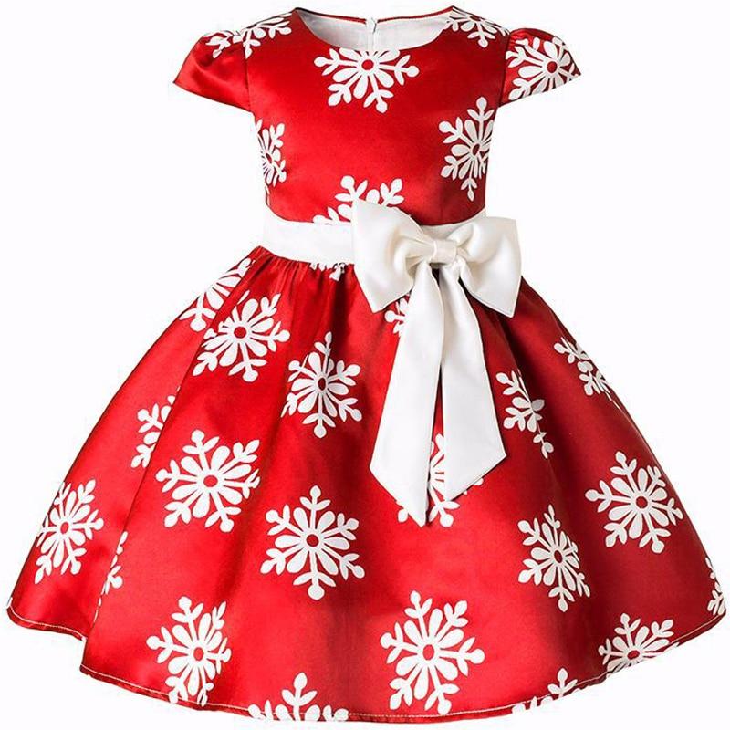 Vestido niñas princesa traje de Navidad nieve Vestidos de fiesta niños ropa Infantil niña flor banda Vestidos ropa