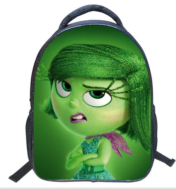 c3769d21a99 13 Inch Cartoon Backpack Inside Out Shoulder Book Bag Printing School Bags  For Kids Children Boys