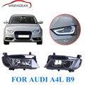 1 Пара Автомобилей противотуманные фары Для Audi A4 B9 2.0L Подтяжку Лица седан H8 Галогенные Ясно Туман Вождение Свет, Отражатель стайлинга автомобилей C/5