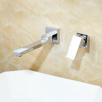 KEMAIDI Wall Mounted Basin Faucet Matte Black Bathroom Mixer Tap Hot Cold Sink Faucet Rotation Spout  Bathtub Shower Faucet 2pcs 10