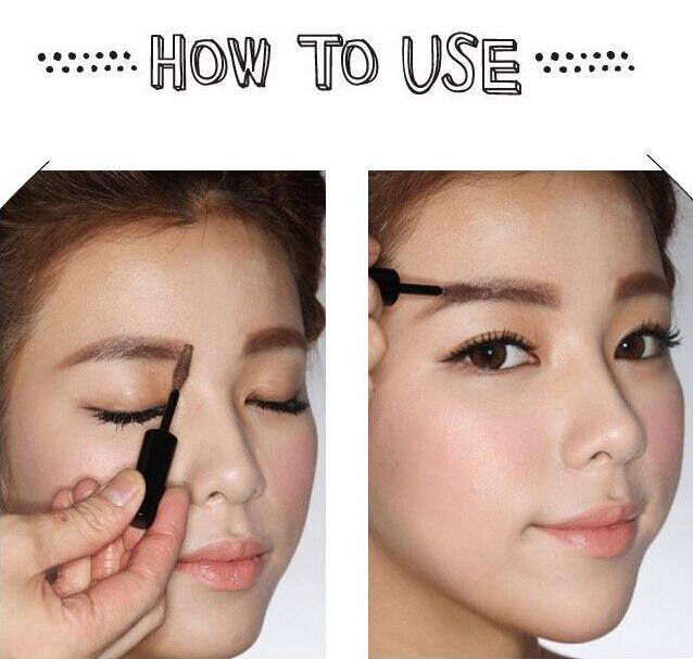 Long Lasting Makeup Korean Eyebrow Tinted Gel Mascara Light Gold