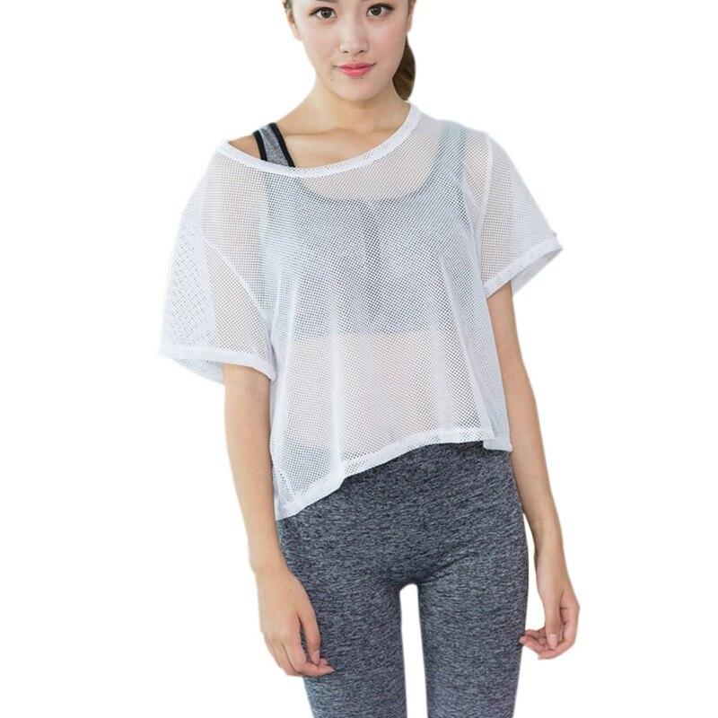 T-shirts Efinny Frauen Fitness Tops Mesh Bodenbildung Shirt Schnell Trocknend T T-shirt Komplette Artikelauswahl
