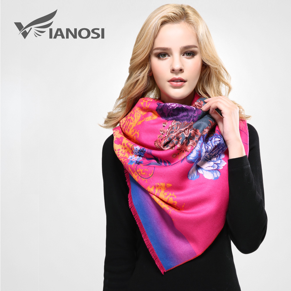 VIANOSI Winter Scarf Woman Thicken Warm Wrap Soft Shawls and Scarves for Women Luxury Printing