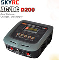 SkyRC D200 200W*2 AC/DC Dual Balance Charger 20A Charge 5A Discharge NiMH/LiPo Battery Twin-Channel Charger with Soldering Iron