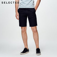 SELECTED Cotton-linen leisure washed leisure short C|4182SH530(China)