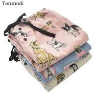 Women 's Sleep Pants Animal Cotton Grinding Home Sleep Pants Women Sleep Bottoms Loose trousers