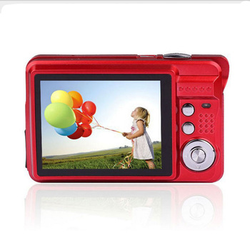 "1280 * 720 HD Mini Digital Camera 18MP 2.7"" TFT 8x Zoom Smile Capture Anti-shake Video Camcorder"
