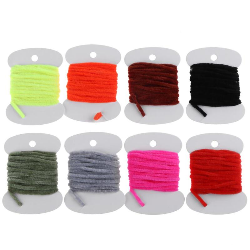 3M/9.84ft Fly Tying Fishing Rope Wooly Worm Fly Streamer Bait Rope DIY Craft Tackle Tool Fly Fishing Tied Hooks Fly Line