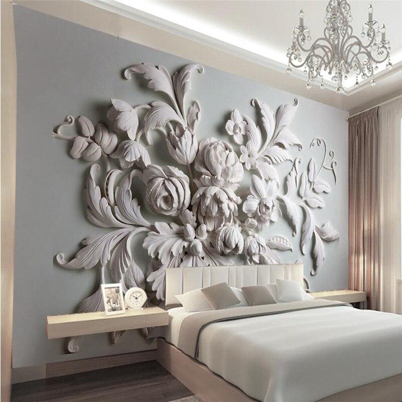 € 14.69  3D photo papier peint stéréoscopique relief européenne toile de  fond entrée porche oiseau feuille 3D grand papier peint mural peinture ...