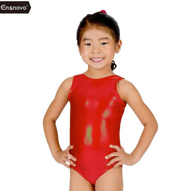 Ensnovo Filles Brillant Costume de Ballet Vêtements De Danse Sans Manches  Combinaisons pour Petite Fille Salopette 4c107839214