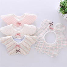 2019 Baby Bibs Cotton Waterproof 360 degree Baby Girls Bibs Flower Saliva Towel Children's Bib Rice Bowl 0-12M(China)