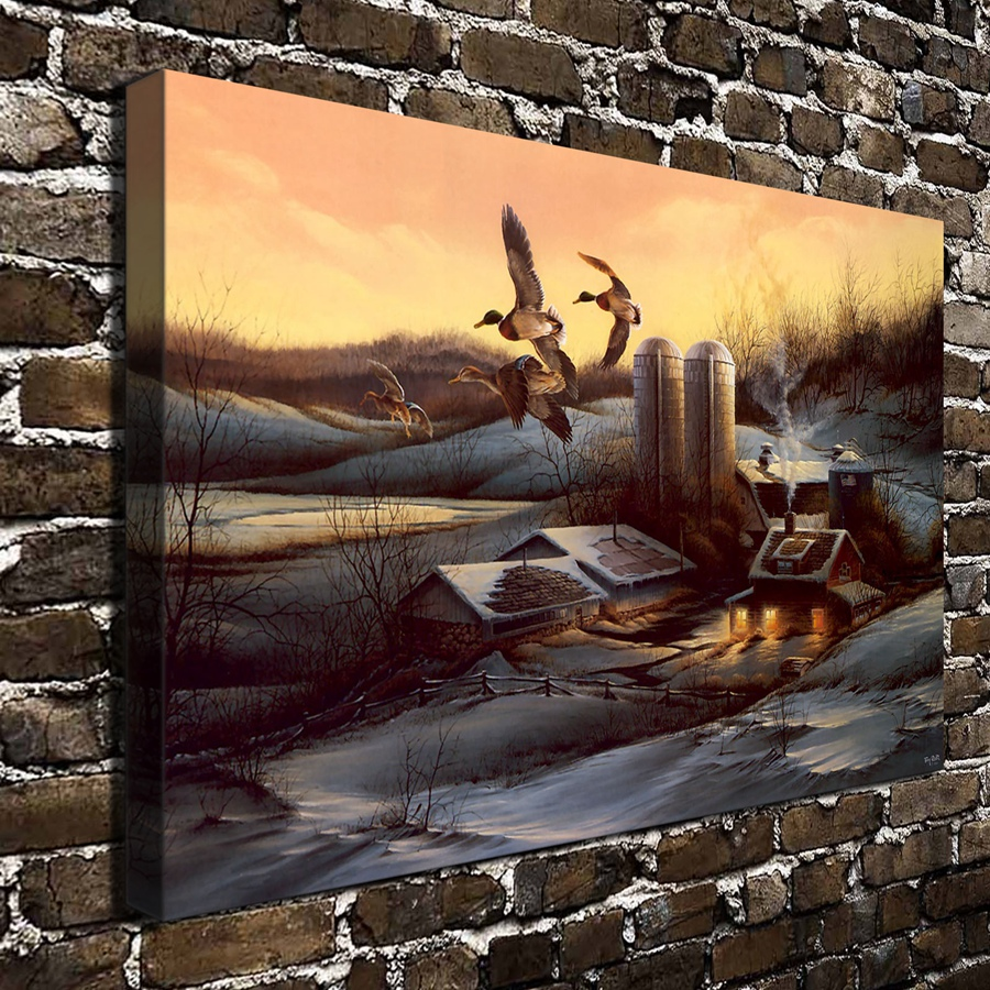A756 terry redlin evening company animal scenery hd for Living room 12x18
