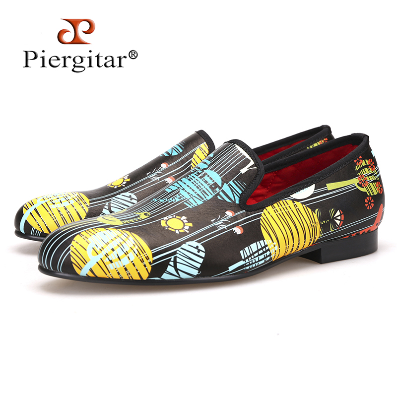 Piergitar 2017 Fashion party and show men's casual leather shoes big size male smoking slippers Handmade men loafers все цены