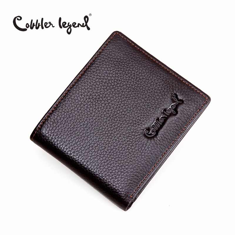Cobbler Legend Brand Designer 2019 Genuine Leather Slim Men's Wallet Cow Leather Men Clutch Wallets Male Fashion Coin Purses
