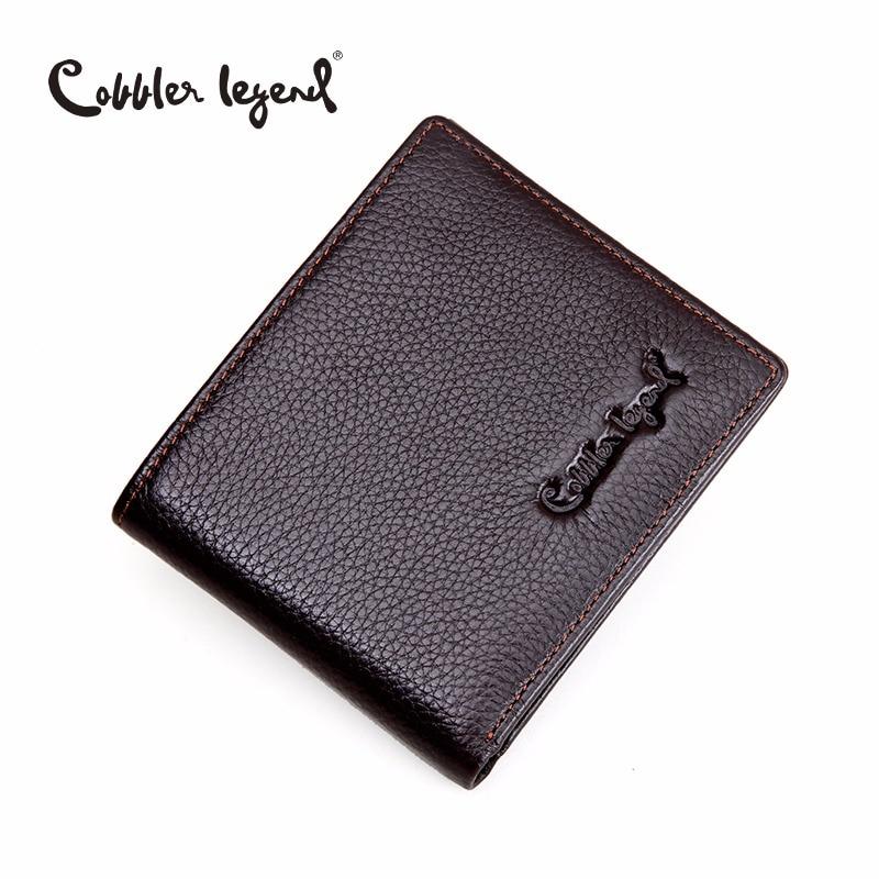 Cobbler Legend Brand Designer 2016 Real Leather Slim Mens Wallet Cow Men Bifold Clutch Wallets Male Fashion Purses Coin