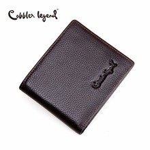 Cobbler Legend Brand Designer 2016 Real Leather Slim Mens Wallet Cow Men Bifold Clutch Wallets Male Fashion Purses Coin