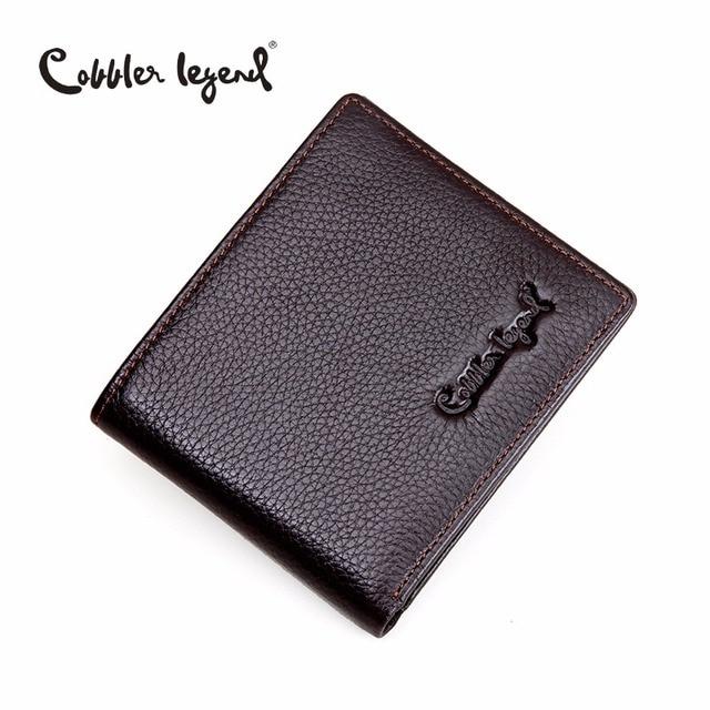 Cobbler Legend Brand Designer 2019 Genuine Leather Slim Men's Wallet Cow Leather Men Clutch Wallets Male Fashion Coin Purses