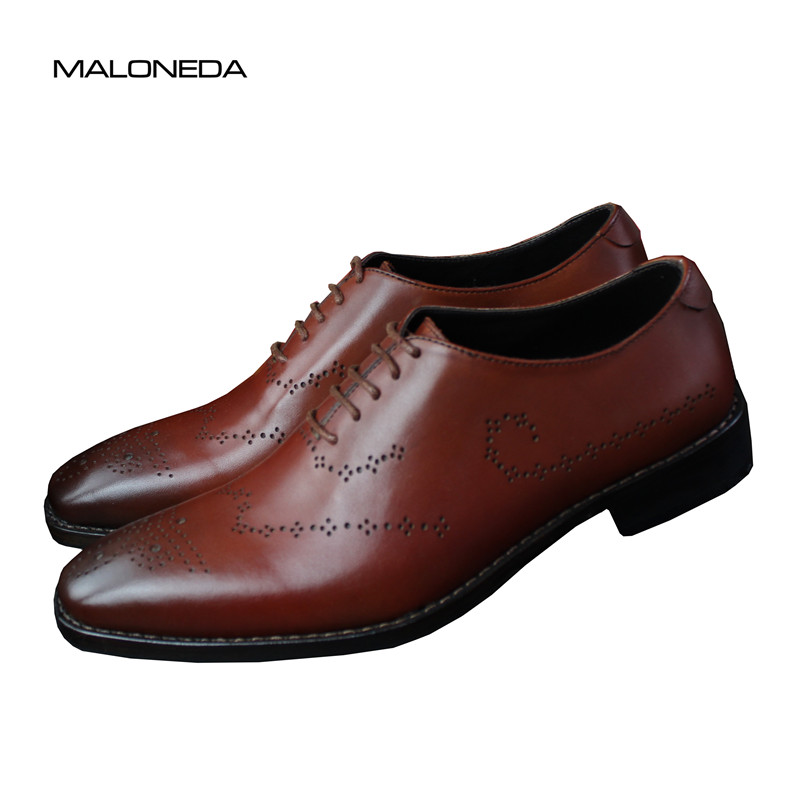 MALONEDA Brand New Italy Handmade Classic Brogue Oxfords Leather Full Genuine Leather With Goodyear WeltedMALONEDA Brand New Italy Handmade Classic Brogue Oxfords Leather Full Genuine Leather With Goodyear Welted