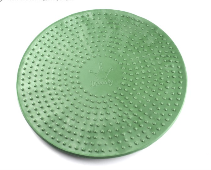 Diameter:270mm Rubber antiskid and durable round table single side glass turntable base swivel plate