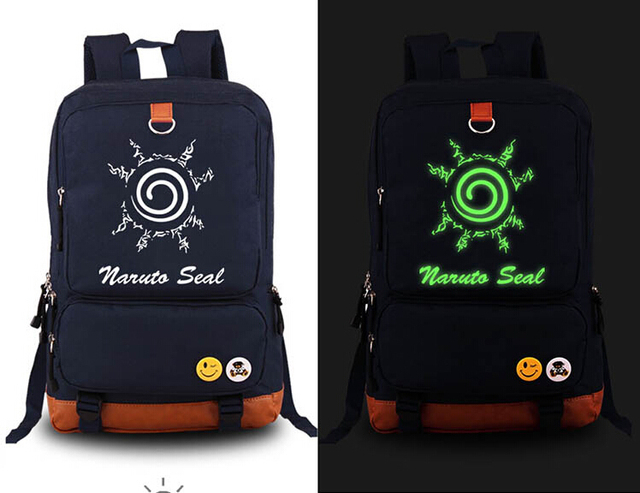 Naruto Seal  Luminous Backpack Bags