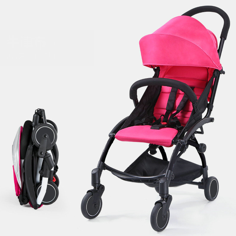 Fold baby stroller, ultra light portable baby carriage, can sit and lie umbrella cart with travel bag pram, 5.8kg baby stroller