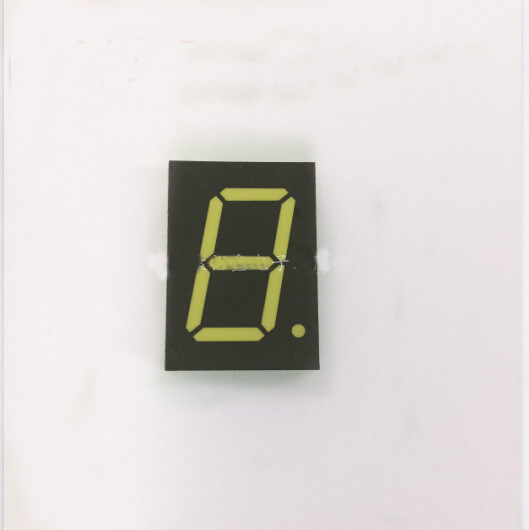Free Ship 100pc Common Anode 1inch Digital Tube 1 Bit Digital Tube Display White Digital Led Tube  Factory Direct