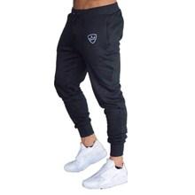 Darmowa wysyłka Hot 2018 jesień mężczyźni spodnie moda mężczyźni spodnie casual Slim fit Mens joggers Spodnie dresowe duży rozmiar tanie tanio Mężczyzn Pełna długość PJC BCHK-1 Spandex bawełna Połowie Kieszenie Regularne Midweight 18 89-21 25 Sznurkiem Batik