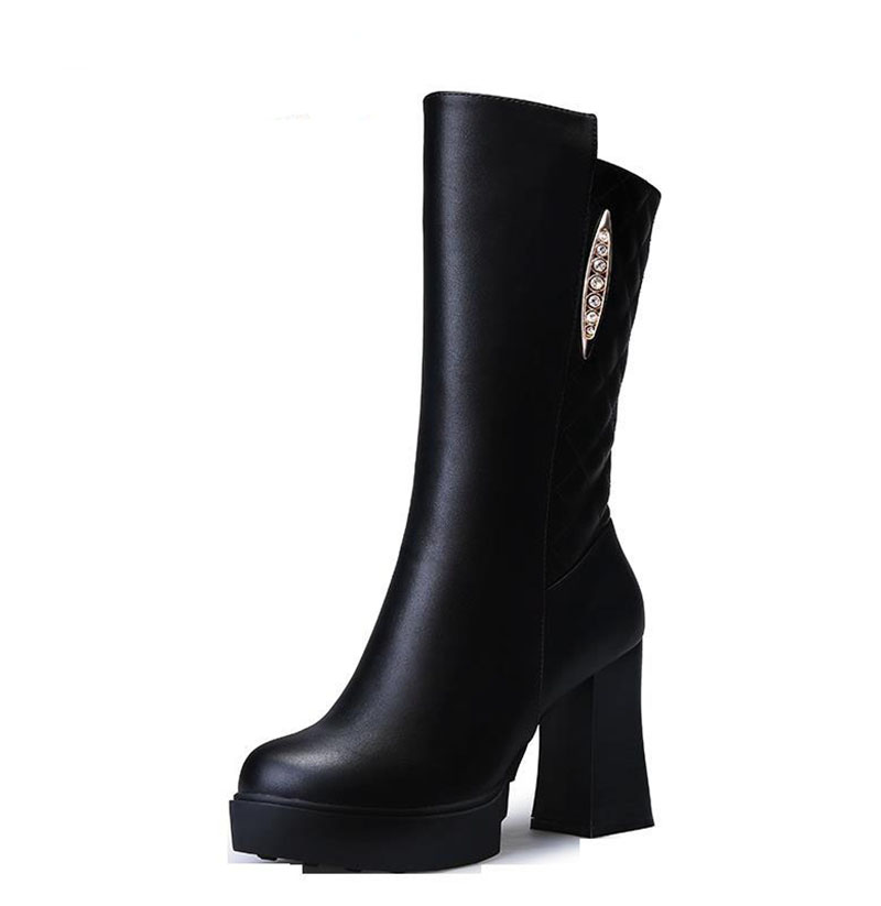 Autumn and winter boots in Europe and the United States women's shoes high heel boots thick with waterproof tall canister boots