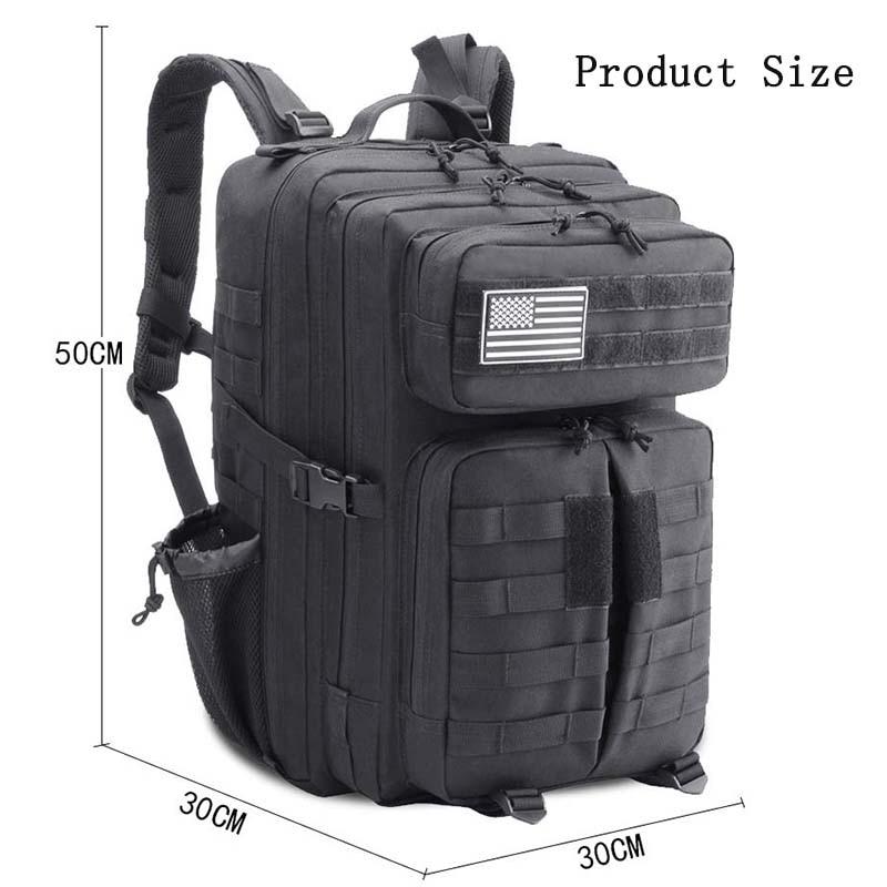 45L imperméable à l'eau haute capacité Sport en plein air sac à dos tactique escalade randonnée Trekking toile sacs de voyage - 5