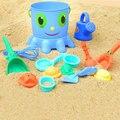 14 unids Kids niños pulpo cubo rastrillo pote pote de la playa arena agua herramientas juguete de la alta calidad