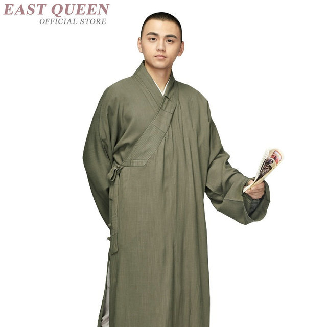 5d3e2847b2 US $64.9 45% OFF|Buddist monk clothing zen clothing traditional Chinese  clothing monk outfit large size shaolin zen buddist monk robes FF654 A-in  Robe ...