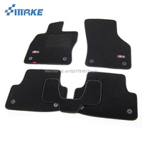 smRKE For Audi A3 2014 2018 Car Floor Mats Carpets Customized Embroidery Antiskid Hydrophil Fiber Front & Rear Full Set LHD RHD