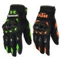 Hot Sale New Full Finger KTM Motorcycle Gloves Motocross Luvas Guantes Green Orange Moto Protective Glove For Men Free Shipping