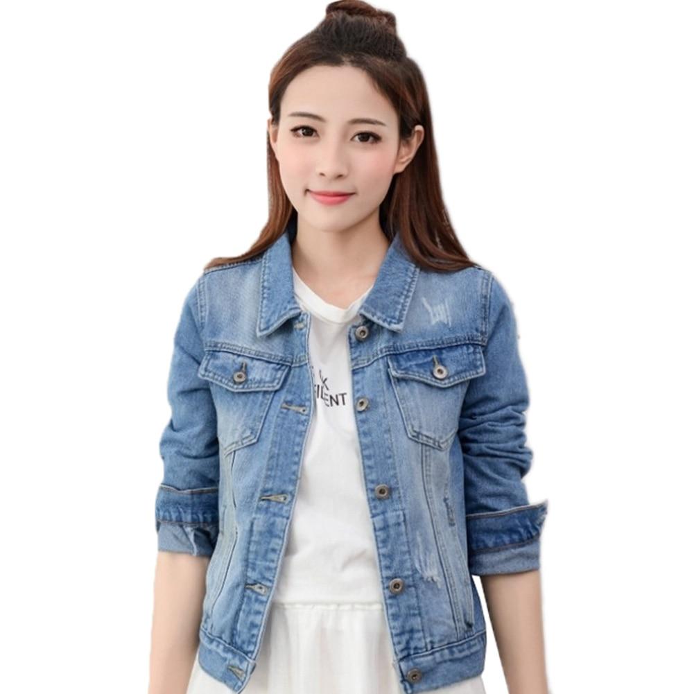 2018 Fashion Jeans Jacket Women Spring Autumn Hand Brush