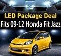 Livre Branco Envio/Blue 4 Luzes LED Dome Mapa Passo Tronco Luzes Interior Package Deal Para 2009-2011 Honda FIT JAZZ