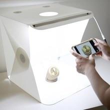 Claite 30 см портативный складной светодиодный Лайт-бокс для фотографий Фотография СВЕТОДИОДНЫЙ свет комнатная палатка с фонов для цифровой DSLR камеры