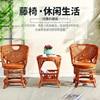 Rattan Sofas 360 Degree Rotation Vine Tea Table Set 2 Cane Chair 1 teatable Home Furniture Set Living Room Garden Sectional Sofa