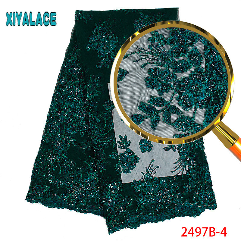 Luxury Fabric High Quality African Lace 3d Embroidery Tulle Lace Fabric For Nigerian Wedding African Lace Matrial PGC2497B 1-in Lace from Home & Garden    1
