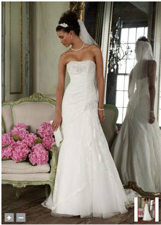 kurtis mariage Custom Made Strapless Fit And Flare Gown with Side ...