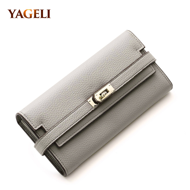 YAGELI 2017 high quality PU leather women wallet long wallets luxury brand designer women's purses and wallets with phone bag