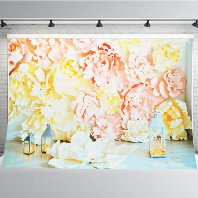 Flowers Vinyl Photography Backdrop 5x7ft Wedding Decoration Diy Birthday Party Photo Booth Studio Props Background Cloth