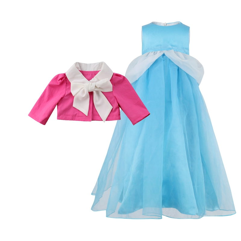 New Hot Princess Girls Dress Kids Magic Transformation Dress and Coat Cosplay Costume Beautiful Cute стоимость