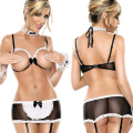 Sexy Costumes New Style Women's Sexy Dew Rutou Set Depending On The Role Play Maid Serving Maid Uniform Temptation Sexy Lingerie