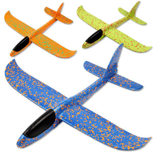 48cmChildren Toy Airplane Throw Hand Child Sport Outdoor Airplane Glider Model Remote Control Large Airplane EPP Flying Breakout