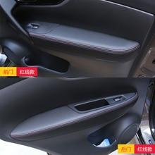 Modificação Interior do carro apoio de braço apoio de braço da porta tampa decorativa artificial couro acessórios capa PARA Nissan QASHQAI 201-2018