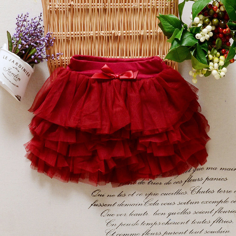 2018 NEW Lace Cute Bow Princess Girls Party Skirts Soft Baby Girl Birthday Gift Toddler Ball Gown Kawaii TUTU Skirts Hot XL108