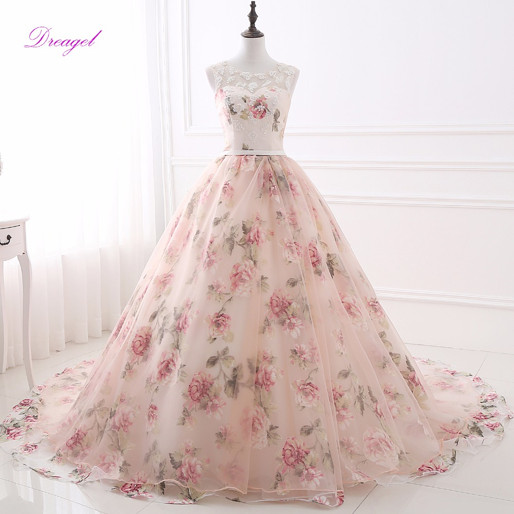 Fmogl Romantic Scoop Neck Lace Up Sweet 16 Dress Ball Gown Quinceanera Dresses 2018 Appliques Pearls Debutante Gown for 15 anos